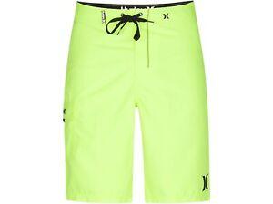 "Hurley Men's One & Only Boardshorts Swim Trunks Neon Fluorescent Yellow 32"""