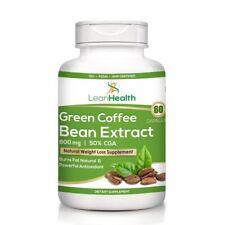 100% Natural Pure Green Coffee Bean Extract Pure (50% Cga) 800 Mg (60 Capsules)