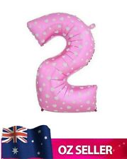 """Pink Foil Helium number 2 balloon -  40"""" inch 100cm Brithday Party TWO AUS STOCK"""