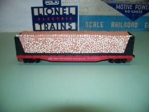 HO SCALE MANTUA SOUTHERN RAILROAD BULKHEAD FLAT CAR WITH PULP WOOD LOAD