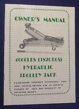 Vintage 400LBS HYDRAULIC TROLLEY JACK Owners Manual