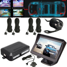 4.3'' TFT LCD Car Rear Reversing Backup Monitor Camera + 4 Parking Sensors Radar