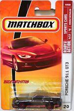 MATCHBOX 2009 SPORTS CARS PORSCHE 911 GT3 #20 BLACK W+