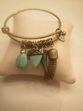 Vintage Cara NY Brass Bracelet with Turquoise Style Charm