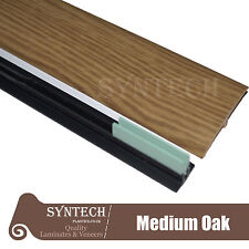 Medium Oak Laminate Transition Threshold Strip 180cm x 50mm Multi-Height/Pivot