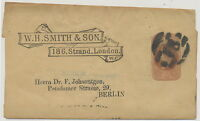 2441 W.H.SMITH Advertising VF QV ½D brown STO postal stationery wrapper BERLIN