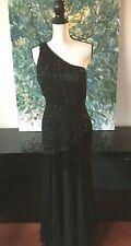Black Tie Silk Beaded Dress Sz 4 Long Evening Opera Elegant Sexy