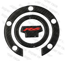 3D Carbon Fiber Gas Cap Tank Cover Pad Sticker For Yamaha YZF R6 2001-2016 Nice