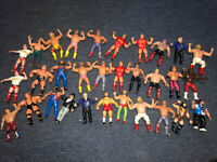 WWE WWF LJN Lot of 31 Wrestling Damaged rubber figures 1980s collectables Read !