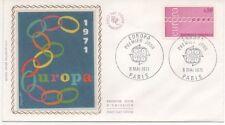 FRANCE 1971.F.D.C.  SOIE  EUROPA. 1971.OBLI:LE 8/5/71 PARIS