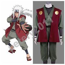 Naruto Anime Jiraiya Cosplay Costume Halloween New