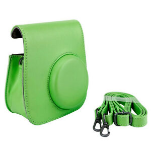 Xit Lime Green Groovy Case For Fuji Instax Mini Camera + Strap New! Top Value