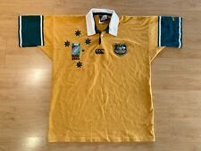 Australia Wallabies 2003 World Cup Rugby Union Canterbury Shirt Jersey Large
