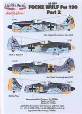 Lifelike Decals 1/48 FOCKE WULF Fw-190 Fighter Part 2