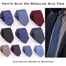 Men's Slim or Regular Silk Tie Skinny Necktie Formal Casual Narrow Mens Ties