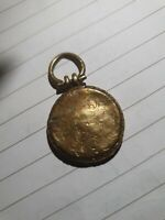 Antique Pretty Victorian Mourning Opening Locket Pendant - Rolled gold