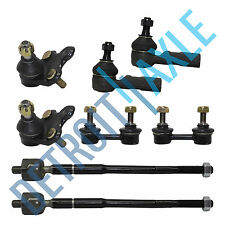 93-95 Toyota Corolla Geo Prizm 8pc Lower Ball Joint Tie Rod Front Sway Bar Link