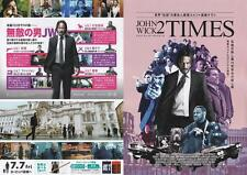 John Wick Chapter 2 Japanese Chirashi Mini Ad-Flyer Poster 2006 4 pages