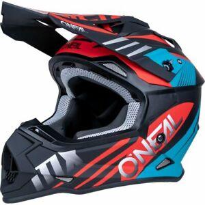 ONEAL 2 SERIES SPYDE 2.0 BLACK / RED / TEAL MOTORCYCLE HELMET X-LARGE
