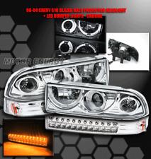 98-04 S10 BLAZER HALO PROJECTOR HEAD LIGHTS+BUMPER LAMP