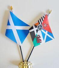 Scotland & Pan Celtic Nations Double Friendship Table Flag Set