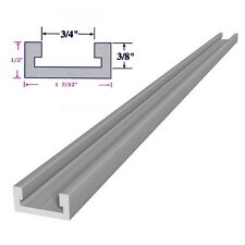 """3/4 x 3/8 x 48"""" Inch T track Miter Track, Jig Fixture Slot for Router Table Saw"""