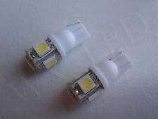 2 X WHITE T10 194 168 2825 W5W LED PARKING MARKER LIGHT BULBS 5050 SMD 5 LED**
