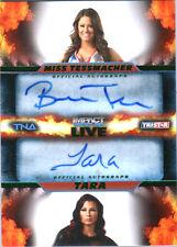 TNA Miss Tessmacher Tara 2013 Impact Wrestling LIVE GREEN Autograph Card SN48/50