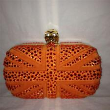 Alexander Mcqueen Britannia Swarovski Crystal Beaded Skull Clutch Box Bag $2295