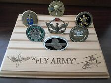 Military Challenge Coin Holder/Display 8x10, Fly Army, Blackhawk