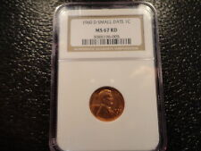 1960-D LINCOLN CENT NGC MS-67 RED SMALL DATE- DISCOUNT