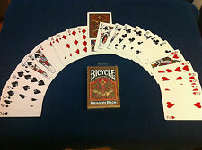 Invisible deck magic Bicycle Gold Dragon Back playing cards!