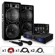 PA PARTY MUSIKANLAGE BOXEN LAUTSPRECHER MP3 USB SD 2000W VERSTäRKER MISCHPULT