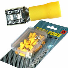Crimp Terminals. 40 Female Yellow electrical Crimping Terminals for Joining Wire