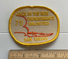 Jack in the Box Thunderboats Unlimited 1979 San Diego Hydroplane Boat Race Patch