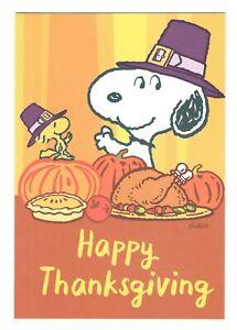 SNOOPY Hallmark Thanksgiving Greeting Card w Envelope Peanuts Charlie Brown MG55