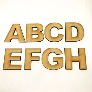 Large Wooden Letters Small Wooden Arial Bold 2cm-20cm MDF High Wall Hanging