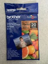 Brother Premium Plus Glossy Photo Paper 4x6 Inch 10x15cm - 20 Sheets
