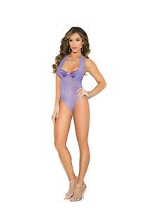 Demi cup teddy w/underwire cups, hook &.... Adult Woman Exotic Lingerie