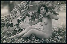 aa French nude woman nudist in the wild original 1920s photo postcard NP 1049