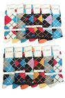 6 12 24 Pairs Mens Dress Socks Multi-Color Lot Socks 10-13 from 5 Style #Freedom