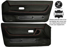 RED STICH 2X FRONT FULL DOOR CARD LEATHER COVER FOR SKYLINE R32 GTS GTR 89-94
