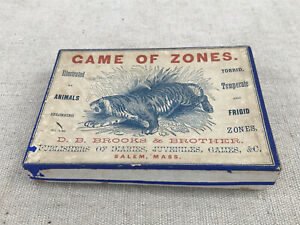 Antique D.B. Brooks & Brothers Game of Zones