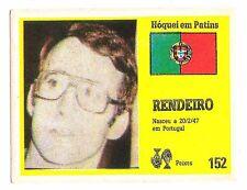 Vintage Portugese Golden Idols Sticker  Ice Hockey Player Rendeiro