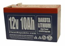 12 V 10 Ah LiFePO4 Battery - Lithium (IN BULK OF FIVE, SHIPPING INCLUDED)