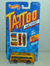 Mattel Hot Wheels Tattoo Machines BUS BOYS #3502 *MOC 1992 Made In China