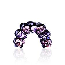 QUALITY Hair Claw using Swarovski Crystal Hairpin Clip Fashion Bowknot Purple 02