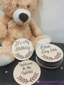 Wooden Baby Milestone Cards, Photo Props, New Baby Gift, Keepsakes