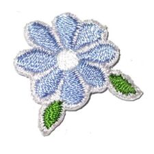 IRON ON PATCH APPLIQUE - DAISY WITH LEAF