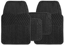 Fiat Uno Universal Valour 4PC Black Rubber Carpet Mat Set